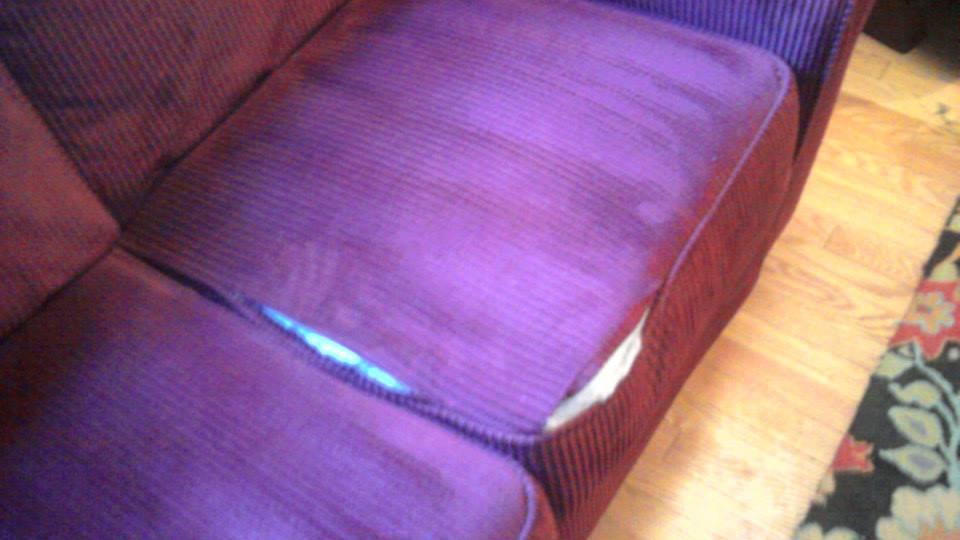 In home seam stitching on furniture